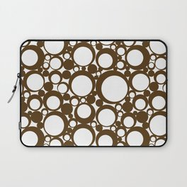 Brown Geometric Abstract Modern Circle Art Laptop Sleeve