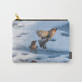 Bohemian Waxwing Splash Carry-All Pouch