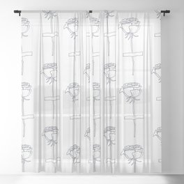 Pasted Rose Sheer Curtain