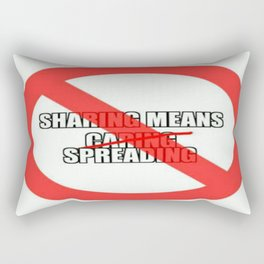 Sharing is Caring and More Rectangular Pillow