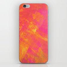 Pink and Orange Stripes iPhone Skin