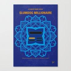 No708 My Slumdog Millionaire minimal movie poster Canvas Print