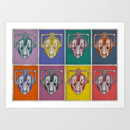 Warholian Cybermen (Doctor Who) Art Print