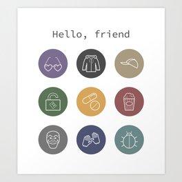Hello, friend - Mr. Robot Art Print