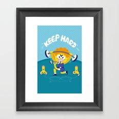 chuchuporn-keep hard Framed Art Print