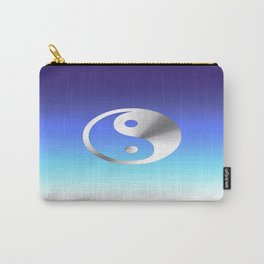 Peace to You (silver and blue) Carry-All Pouch