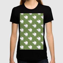 Cute Cat Pattern | Green T-shirt
