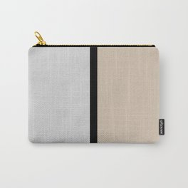 Two colors and black. Gray and Beige Carry-All Pouch