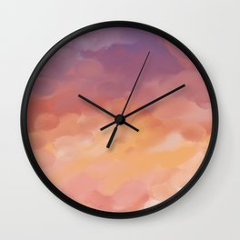 Perfect sunset Wall Clock