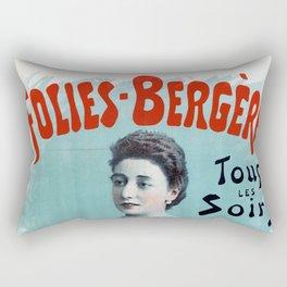 La Belle Otero aux Folies Bergère 1894 Rectangular Pillow