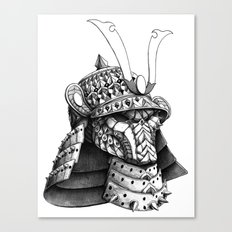 Samurai Helm Canvas Print