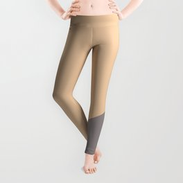 Old pink & Bleached Purple - oblique Leggings