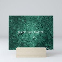 Black Lives Matter Map Art Mini Art Print