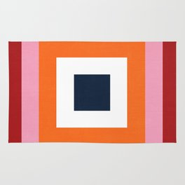 the squares  Rug