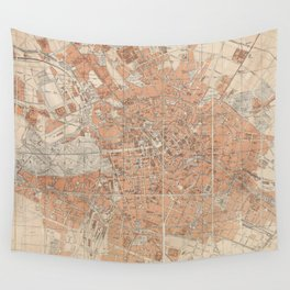 Vintage Map of Berlin Germany (1877) Wall Tapestry