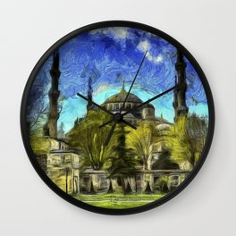 Blue Mosque Istanbul Art Wall Clock