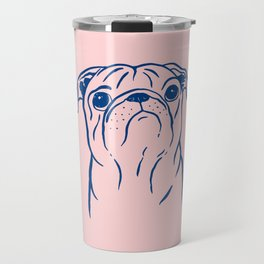Pug (Pink and Blue) Travel Mug
