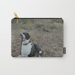 Dog Playing With Stick Carry-All Pouch