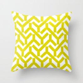 Yellow Geometry Pattern Throw Pillow