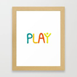 PLAY (Warm) Framed Art Print