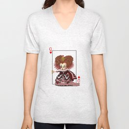 Funny Red Queen Unisex V-Neck