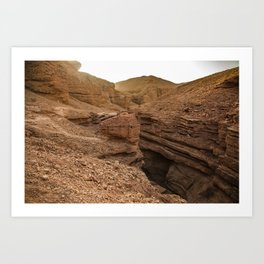 Red Canyon, Eilat, Israel Art Print