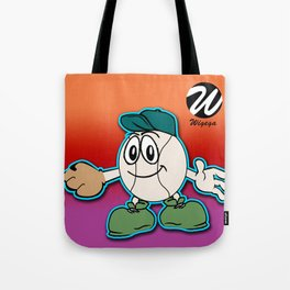 Happy Comic Character with Baseball Glove Tote Bag