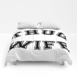 THUG WIFE Comforters