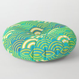 abstract scales simple Spring Nature background with japanese circle Floor Pillow