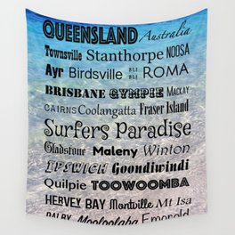 Queensland Poster Wall Tapestry