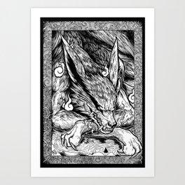 Kurama Kyubi Art Print