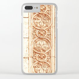 carved stonework Clear iPhone Case