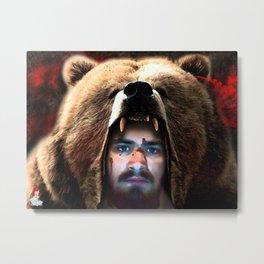 The Bear Man - blood version Metal Print