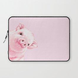 Sneaky Baby Pink Pig Laptop Sleeve