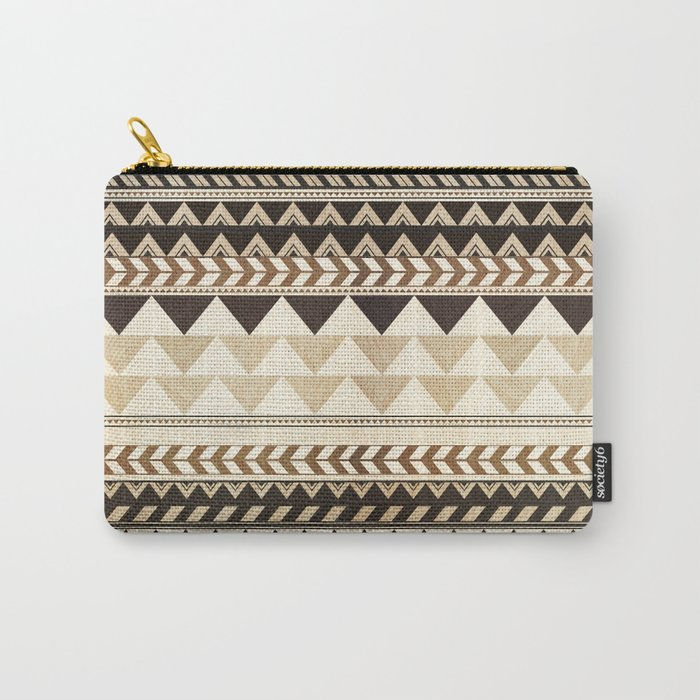 Woodwork Pattern Carry-All Pouch