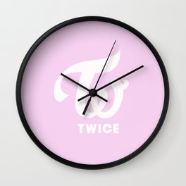Twice logo Wall Clock