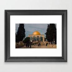 Temple Mount Framed Art Print