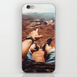 on top of canyonalnds iPhone Skin