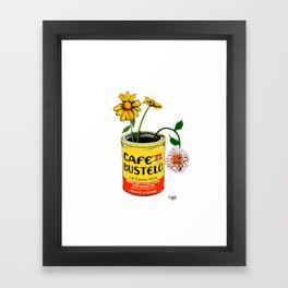 Coffee and Flowers for Breakfast Framed Art Print