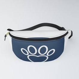 Dog Paw with Heart Dog Lover & owner cynophilist gift Fanny Pack