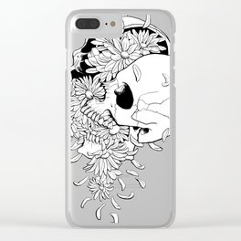 Skull (Pushing Up Daisies) Clear iPhone Case