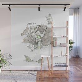 The Little Mermaid is Watching Wall Mural