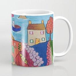 Colorful Naive Seascape Coffee Mug