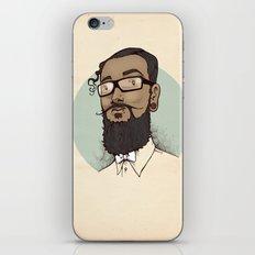 Portrait of Abraham iPhone & iPod Skin