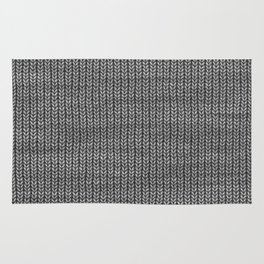 Antiallergenic Hand Knitted Grey Wool Pattern - Mix&Match with Simplicty of life Rug