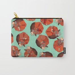 curled fox polka mint Carry-All Pouch