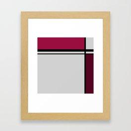 Cross Lines Deep Pink Framed Art Print