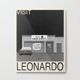 Leonardo Travel Poster Metal Print
