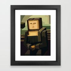 Beautiful 8 bit Mine Monalisa Craft apple iPhone 4 4s 5 5s 5c, ipod, ipad, pillow case and tshirt Framed Art Print