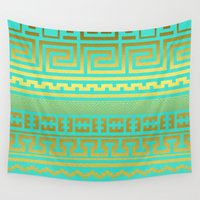 greek Wall Tapestries featuring Gold | Greek by Creative Haus by Luke Sposito